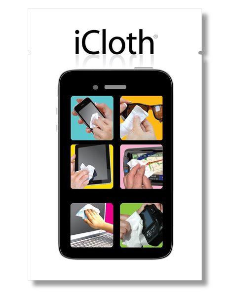 iCloth® 螢幕擦拭巾(無酒精/抗靜電) 25片盒裝(大/5.25x7.25in)