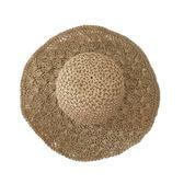 【優選】可折疊沙灘大沿草帽度假防曬遮陽帽子