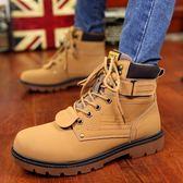 男靴子日韓潮流短靴秋季大頭高筒大尺碼馬丁靴熱賣夯款