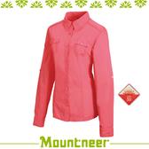 【Mountneer 山林 女 透氣抗UV長袖襯衫《深粉紅》】21B02-32/抗UV/UPF50+/透氣/長襯衫/休閒衣