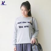 【早秋新品】American Bluedeer - 熱銷英句針織上衣(特價)  秋冬新款