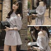 一字領洋裝氣質露肩洋裝女小禮服夏天時尚顯瘦裙子 爾碩數位3c