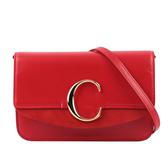 【CHLOE】C CLUTCH 鏈帶斜背包(紅色) CHC19SS192A37640