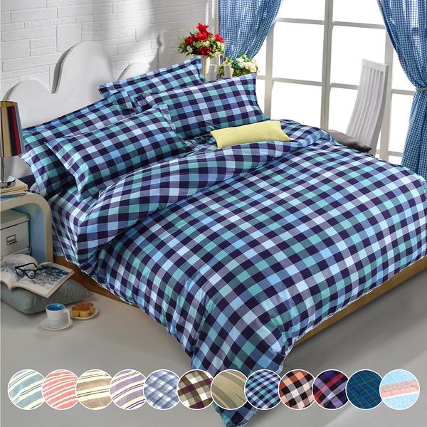 【VIXI】《Youth Culture》吸濕排汗加大雙人床包兩用被四件組(多款任選)