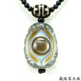 《藏珠家天珠》財咒天眼+六字天珠項鍊
