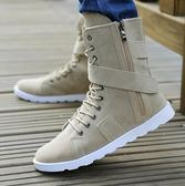 男士紳士英倫風時尚潮流高筒靴氣質工裝男鞋潮靴 DN1421【VIKI菈菈】