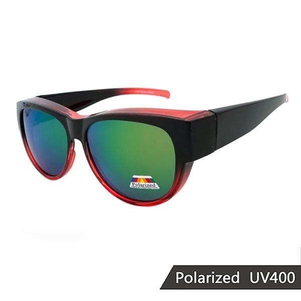 【南紡購物中心】【SUNS】MIT漸層紅水銀偏光套鏡 時尚酷炫 僅20克超輕量 免脫眼鏡太陽眼鏡 抗UV400