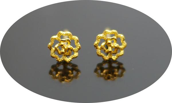 gold 黃金 耳環 金飾 保證卡 重量0.28錢 [ ge 056 ]