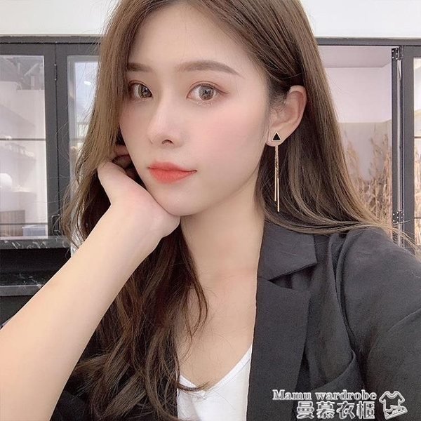 耳環 耳夾無耳洞女流蘇耳環氣質韓國網紅耳墜長款耳飾2021年新款潮耳釘【618 購物】