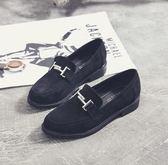 紳士鞋英倫風女鞋子春季單鞋女中跟粗跟2018新款韓版百搭鞋 伊蒂斯女裝