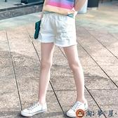 女童短褲兒童白色破洞牛仔褲外穿中大童百搭夏裝潮夏季【淘夢屋】