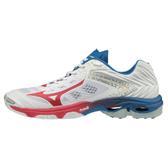 MIZUNO WAVE Lightning Z5 男鞋 女鞋 排球 緩震 止滑 透氣 白 藍 紅 【運動世界】 V1GA190061