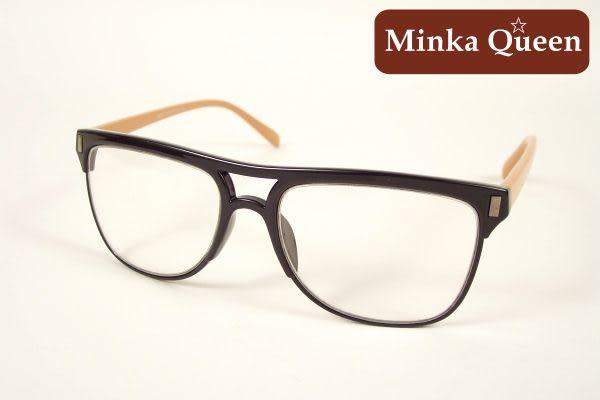 Minka Queen 黑色膠框(抗UV400)潮流必備個性百搭流行配光眼鏡