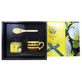 【養蜂人家】典藏完熟禮盒-(完熟哈密瓜蜂蜜*1瓶+原木湯匙*1支+蜜蜂咖啡杯5oz*1個)