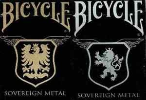 【USPCC 撲克】Bicycle SOVEREIGN METAL Playing Cards copper /stainless