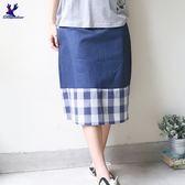 American Bluedeer-格紋剪接裙(魅力價) 春夏新款