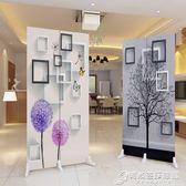 中式屏風隔斷簡約現代臥室客廳辦公室美容院行動小型2扇摺疊摺屏WD 時尚芭莎