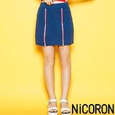 「Hot item」雙拉鍊設計梯型迷你短裙 - NiCORON