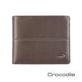 Crocodile Classic 經典系列素面軟皮短夾   0203-3607