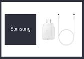 SAMSUNG GALAXY S21/ S20適用 25W Type C原廠快充組-白色 (閃充EP-TA800+雙Type C線)