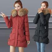 時尚媽媽冬裝新款羽絨棉服外套30歲40中年棉襖中老年加厚棉衣女50