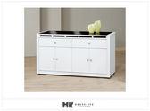 【MK億騰傢俱】ES702-02貝多美白色5尺碗櫥餐櫃下座