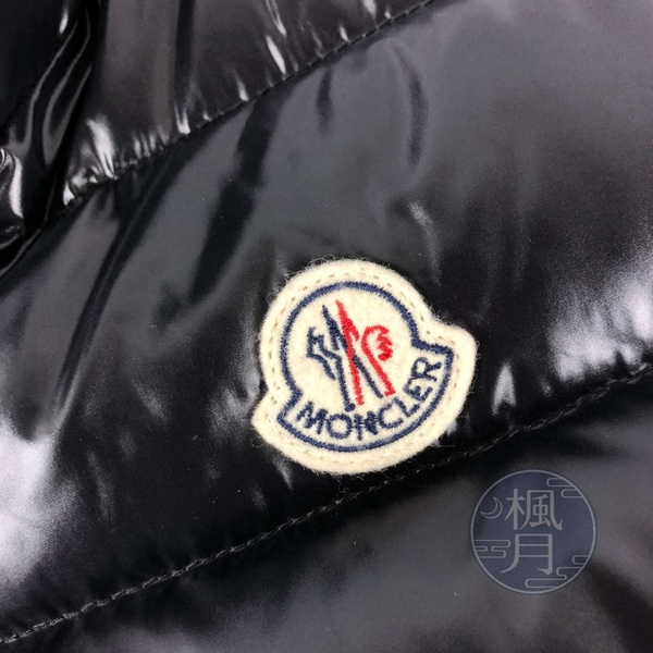 BRAND楓月 MONCLER 經典 黑色 亮面 羽絨 背心 腰身 無袖 外套 秋冬 保暖