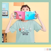 《KG0875》宇宙明星BT21長版上衣短袖T恤 OrangeBear