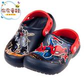 《布布童鞋》Crocs卡駱馳趣味學院猛毒蜘蛛人深藍色兒童布希鞋(16.5~19公分) [ V0G410B ]