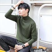 秋冬高領毛衣男白色韓版修身翻領加厚長袖針織衫線衣學生男士冬裝 卡卡西