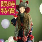 圍巾+毛帽+手套羊毛三件套-俏麗舒適禦寒韓風女配件2色63n40[巴黎精品]