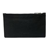 【COACH】多卡夾層男款中性名片夾零錢包(黑)