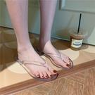 仙女拖鞋 韓國ulzzang透明人字拖果凍鞋女 簡單水涼鞋夾腳拖鞋沙灘鞋ins潮