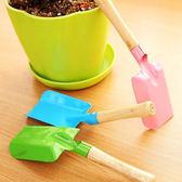 ✭慢思行✭【K136】園藝工具迷你花鏟 盆栽 植物 種花 野外 綠色 鐵藝 木質 手柄 植栽 花草