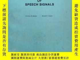 二手書博民逛書店digital罕見processing of speech signals(P2032)Y173412