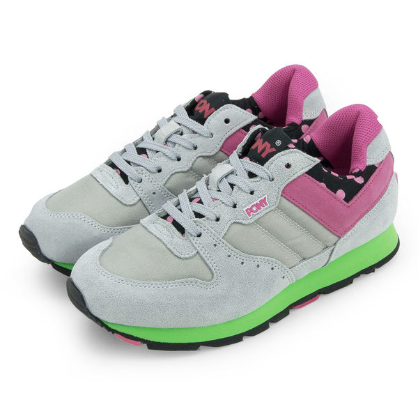 PONY 繽紛韓風復古慢跑鞋 SOLA--V 灰粉黑 9334SO28GR  女 6折零碼好康