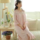 睡衣-純棉時尚優雅甜美七分袖女居家服2色73ok4【時尚巴黎】