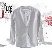 亞麻薄款外套男襯衫寬鬆棉麻夏外穿防曬衫 BF2081『寶貝兒童裝』