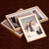 現代簡約婚紗照擺台實木相框韓式結婚照水晶桌擺寶寶照81012寸xw 全館免運