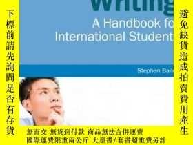 二手書博民逛書店罕見原版 Academic Writing-A Handbook