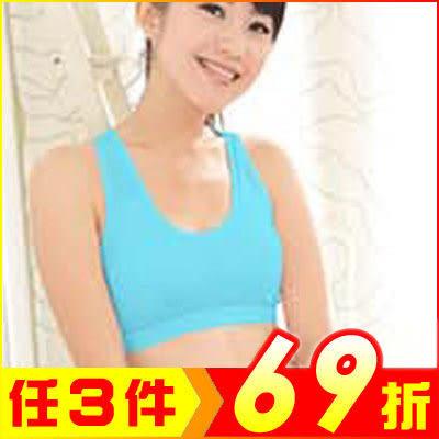 (天藍色) 第2代完全透氣升級款 律動運動內衣背心防震慢跑【AE12043-BU】大創意生活百貨