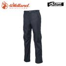 【Wildland 荒野 男 防水防風保暖長褲《黑》】W2330/雪褲/運動褲/工作褲/登山