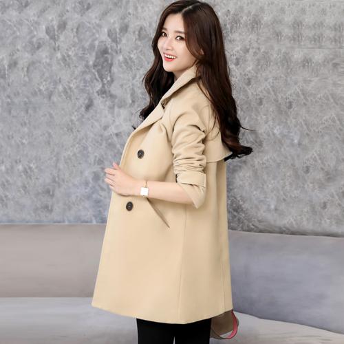 【藍色巴黎 】 秋冬時尚加厚中長版毛呢外套 西裝外套 《M / L》【28836】