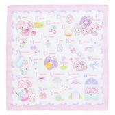 Sanrio蹦蹦兔日本製純棉手帕(一起來學ABC)★funbox生活用品★_075825