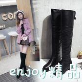 長筒靴子冬季韓版平底皮面過膝
