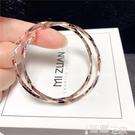 耳環 2021新款玫瑰金色S925純銀針夸張大耳環女簡約氣質百搭耳圈圈日韓 智慧e家 新品