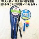 羽毛球拍家庭裝3支親子裝兒童單拍成人雙拍業余初級訓練羽毛球拍 自由角落
