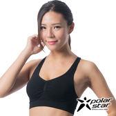 Polarstar 台灣製造 涼感運動內衣│ 慢跑│瑜珈│有氧│韻律背心│高穩定支撐 P16130 - 黑