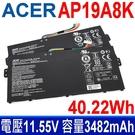 ACER AP19A8K 3芯 原廠電池 3ICP5/58/72 電壓 15.4V 容量 3580mAh/55.1Wh