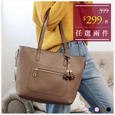 包中包-知性花朵掛飾肩背托特包中包-共4色-A15152274-天藍小舖